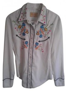 Scully Button Down Shirt White