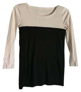 J.Crew T Shirt Black color block beige