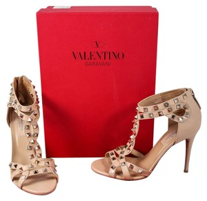Valentino Leather Studs Nude Pumps