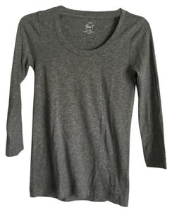 J.Crew J. Crew Gray Neck 3/4 Sleeve T Shirt Grey