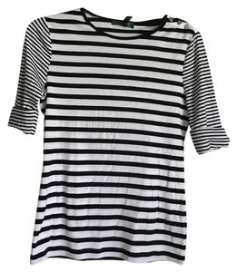 Ralph Lauren T Shirt White/Black Stripe
