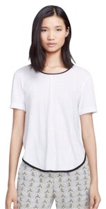 Rag & Bone T Shirt White with black mesh sides