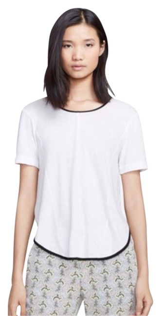 Rag & Bone T Shirt White with black mesh sides Image 0
