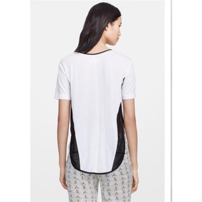 Rag & Bone T Shirt White with black mesh sides Image 1
