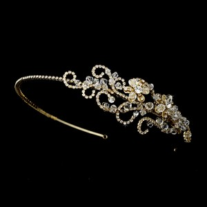 Elegance By Carbonneau 2-row Stretch Wedding Bracelet With Bold Crystal Motif 4153b-w
