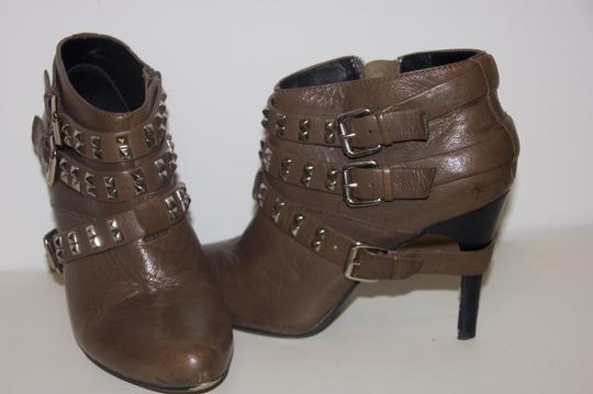 REPORT Leather Studded Gray Boots Image 1