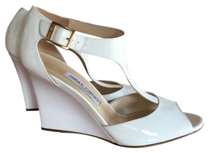 Jimmy Choo Wedge White patent Wedges