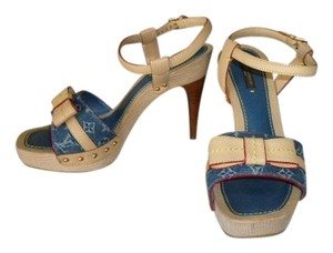 Louis Vuitton DENIM MONOGRAM Platforms