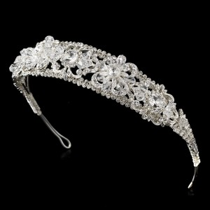 Elegance By Carbonneau Swarovski Silver Bridal Headband Hp 8273