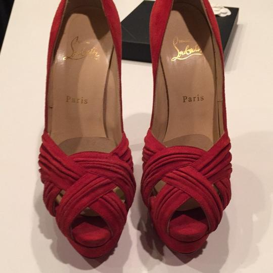 Christian Louboutin Red Platforms Image 1