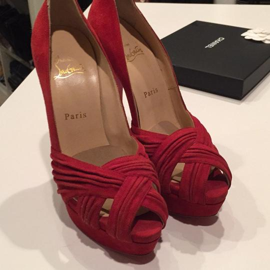 Christian Louboutin Red Platforms Image 5