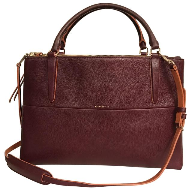 Item - Borough 32912 Oxblood Red Brown Gold Leather Satchel
