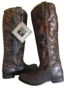 Frye Leather Tall Chocolate glaze Boots