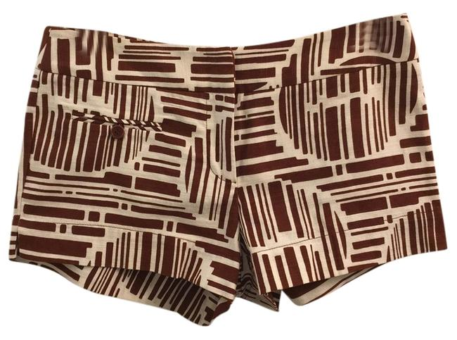 Item - Brown White Shorts Size 4 (S, 27)