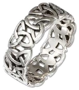 Sterling Silver Celtic Trinity Knot Band Ring