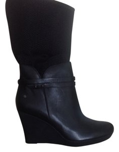 UGG Australia Alexis Removeable Shaft Wedge Tall Black Boots