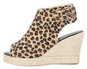 ElyseWalker Los Angeles Leopard Wedges