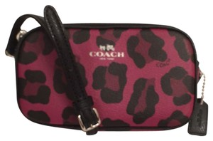 Coach Leather Leopard New/nwt Cross Body Bag