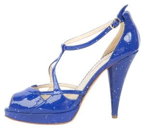 Oscar de la Renta Blue Pumps