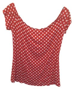 Modcloth T Shirt White and red