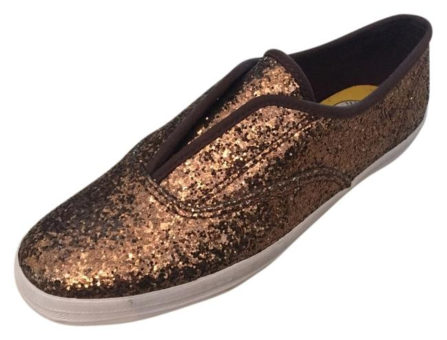 Item - Bronze Glitter Sneakers Size US 6