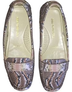 Bruno Magli Leather Flat Snakeskin Flats
