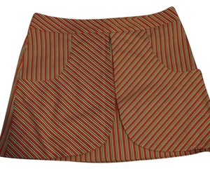 Diane von Furstenberg Mini Skirt Stripes white pink black