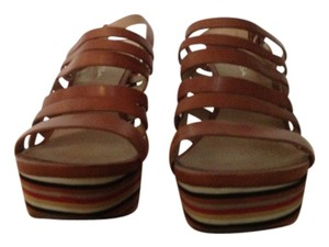 Via Spiga Tan/multi Wedges