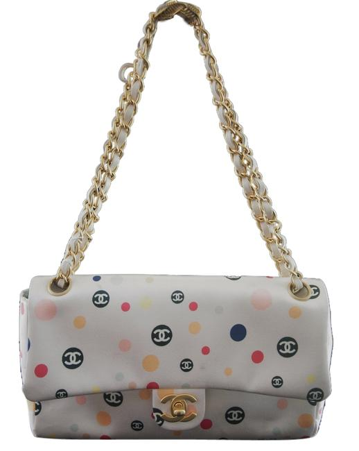 Item - Chain Limited Edition Pink Polka Dot Satin Shoulder Bag