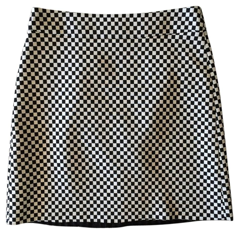 Zara Checkered Mini Pencil Mini Skirt