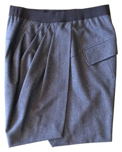 Brunello Cucinelli Italian Mini Pencil Wool Mini Skirt Brown