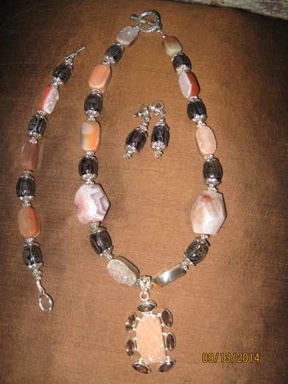 Tammy O. Brown Stone Necklace, Bracelet and Earrings