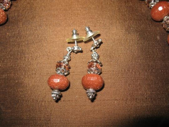 Tammy O. Brown Sparkle Stone Necklace with earrings