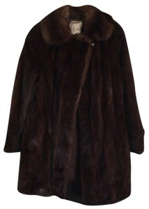 EMBA Demi Buff Lunaraine American Mink with Sable Collar Vintage Natural Rare Quality Fur Coat