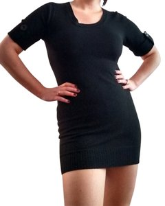 Alyn Paige short dress black Sweater Tunic Stretchy on Tradesy
