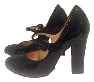 Cole Haan Mary Janes Patent Leather Black Pumps