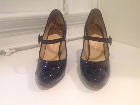 Cole Haan Mary Janes Patent Leather Nike Air Technology Black Pumps