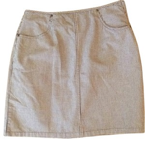 Liz Claiborne Mini Skirt Black and white