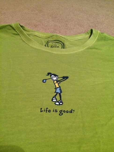 Life is Good T Shirt Bright Green
