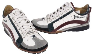 DSquared Leather Multicolor White Athletic