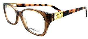 Versace VERSACE Crystal Brown Women's Eyeglasses New 52mm