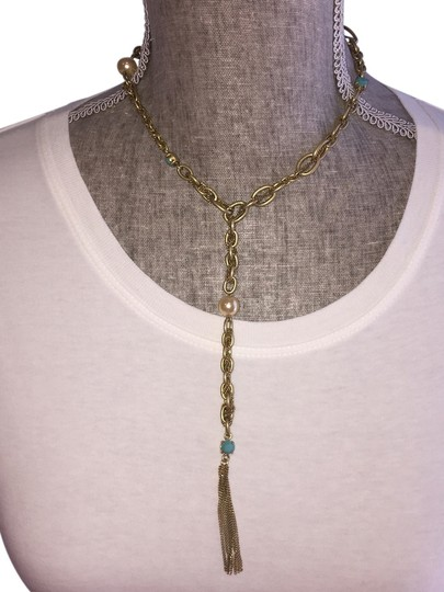 Preload https://img-static.tradesy.com/item/12358903/abs-by-allen-schwartz-goldtone-turquoise-faux-pearl-abs-lariat-with-and-necklace-0-3-540-540.jpg