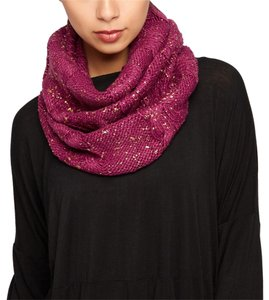 Knit Infinity Scarf with Gold Metalic Detail