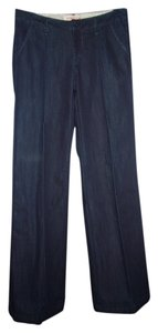Bica Cheia Trouser Dark Wash Trouser/Wide Leg Jeans-Dark Rinse