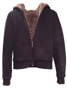 Juicy Couture Rabbit Fur Hooded Black Jacket