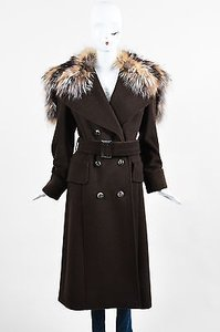 Escada Wool Fox Fur Coat