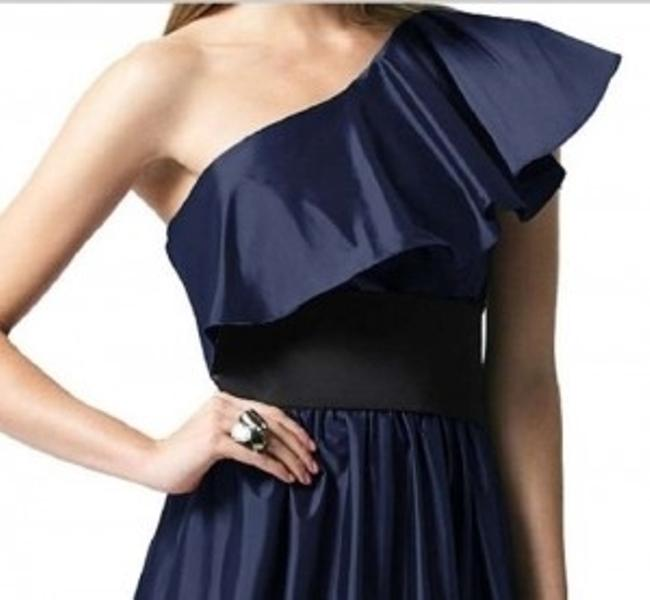 Dessy One Shoulder Length Satin Dress