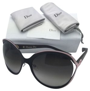 Dior New CHRISTIAN DIOR Sunglasses DIORELLE1 6MSHA Brown & Pink Frames w/ Brown Gradient Lenses