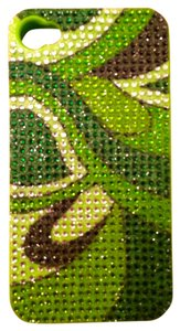 Greene + Gray Greene + Gray Jelly iPhone 4/4s Rhinestone Green Case