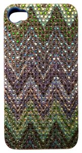 Greene + Gray Greene + Gray Jelly iPhone 4/4s Rhinestone Blue Case